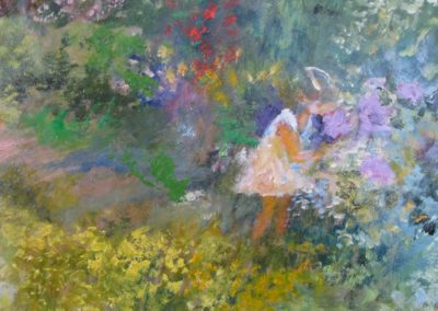 "Joseph William Dawley (1936-2008), ""Smelling The Flowers"""