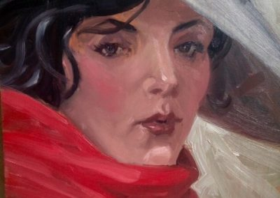 "Louis Russomanno, ""The Red Scarf"""