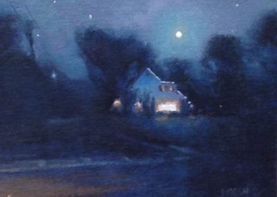 "Michael Budden, ""Evening Moonlight Crosswicks"""