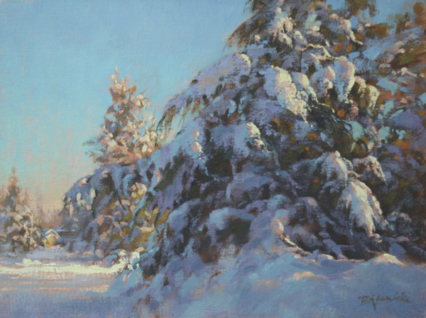 Tis the Season! Bringing you the Joy of snow-covered trees at the Artful Deposit Gallery.